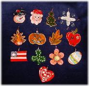Porcelain Interchangeable Wire and Beads Ornament Accents--buy them individually or as a set!!!