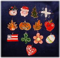All Seasons Ornaments for the Copper Wire Design Ornaments