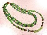 Apple Green Chrysoprase (Grade A) and Czech Necklace Set $59.00