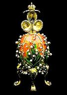 Decorated Egg-Lilies of the Valley Faberge Egg